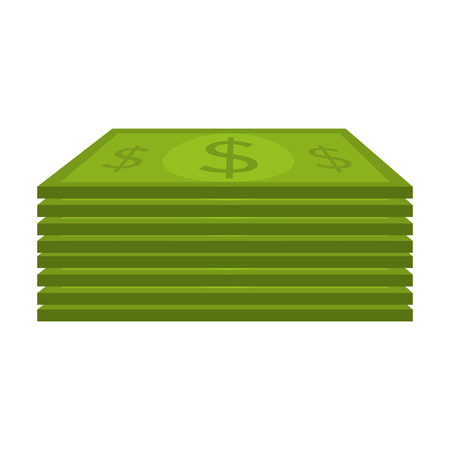 green economy: green bill cash with money symbol. type of economy payment. vector illustration Illustration