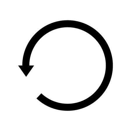 sync: Sync refresh or webpage reload arrow. replay sign.  vector illustration