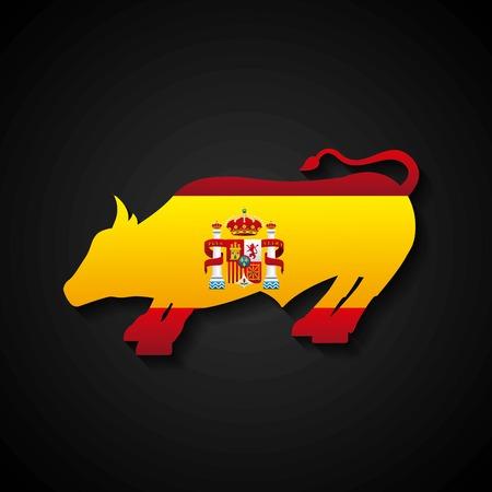 bullfighting: bullfighting classic icon of Spanish culture vector illustration design