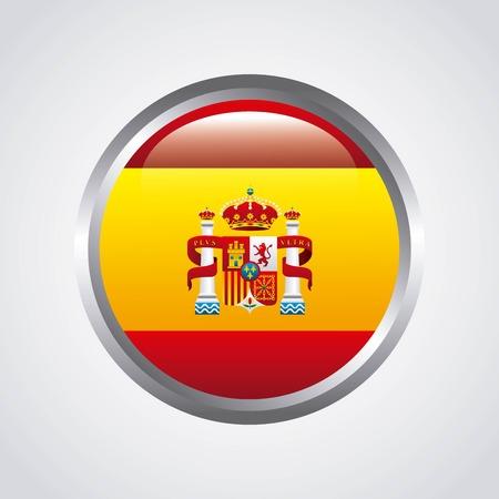 spanish flag: flag classic icon of Spanish culture vector illustration design