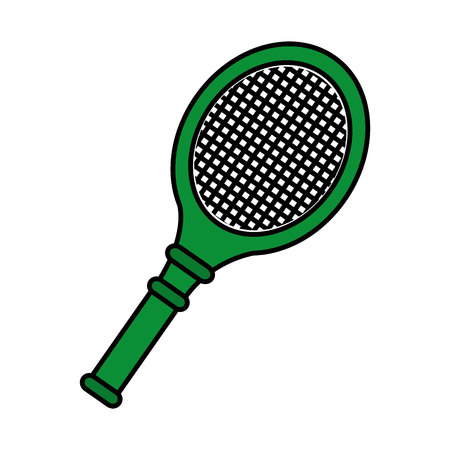racket tennis sport equipment icon vector illustration design Stock Photo