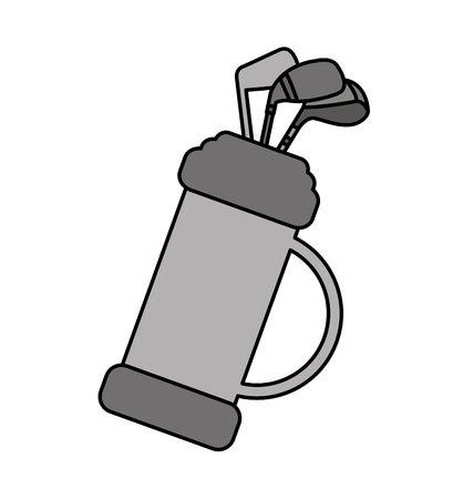 caddie: golf clubs bag equipment icon vector illustration design