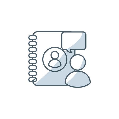 medica: directory book with social medica icon vector illustration design