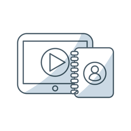 electronic device: media player device electronic vector illustration design