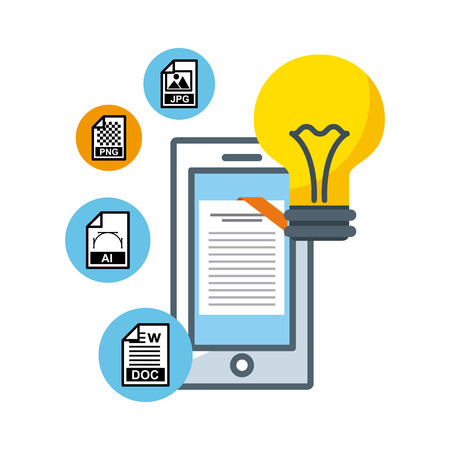 management of electronic formats vector illustration design