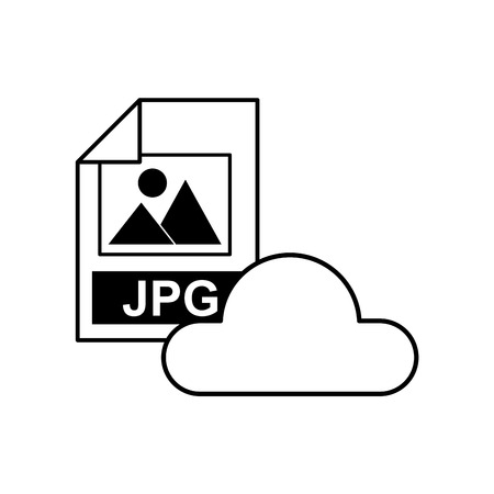 archive site: cloud computing with electronic file vector illustration design