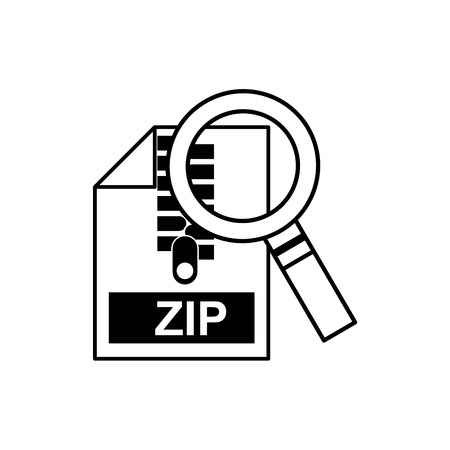 archive site: search magnifying glass with electronic file vector illustration design Illustration
