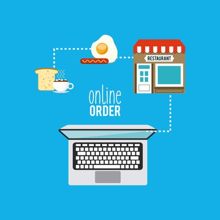 retail place: restaurant menu online order vector illustration design