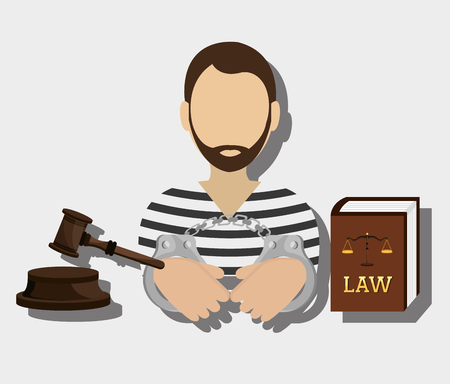 Law and legal justice graphic design, vector illustration Illustration