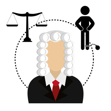 prosecutor: Law and legal justice graphic design, vector illustration Illustration