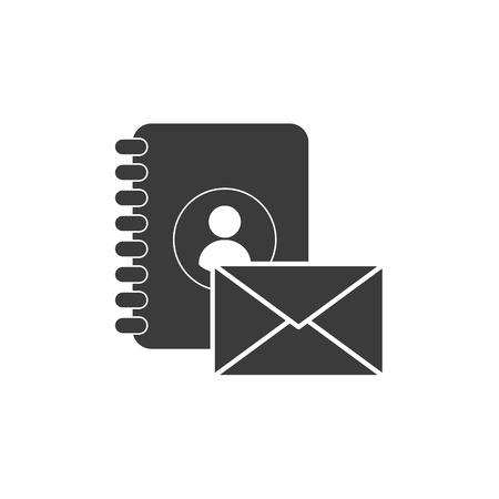 directorio telefonico: telefónica directorio con los medios de comunicación social Ilustración del vector del icono del diseño