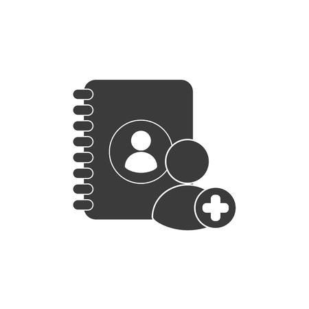 directorio telefonico: telef�nica directorio con los medios de comunicaci�n social Ilustraci�n del vector del icono del dise�o