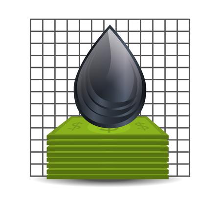energy market: black drop oil and petroleum price design. vector illustration