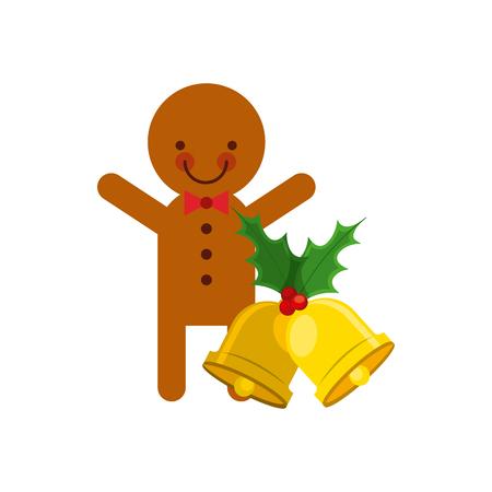 galleta de jengibre: jengibre galleta de Navidad icono ilustración vectorial de diseño