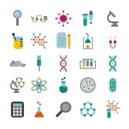 biology and science education line icon vector illustration design