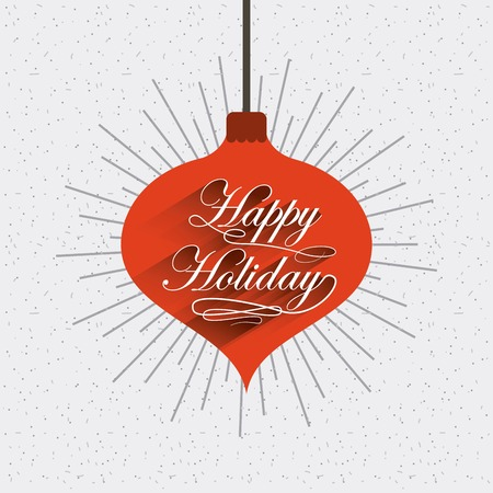 hung: merry christmas balls decoration card vector illustration design Illustration