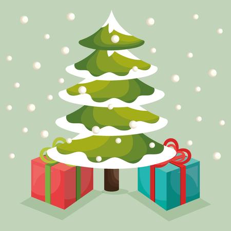 christmas tree illustration: christmas tree pine card vector illustration design Illustration