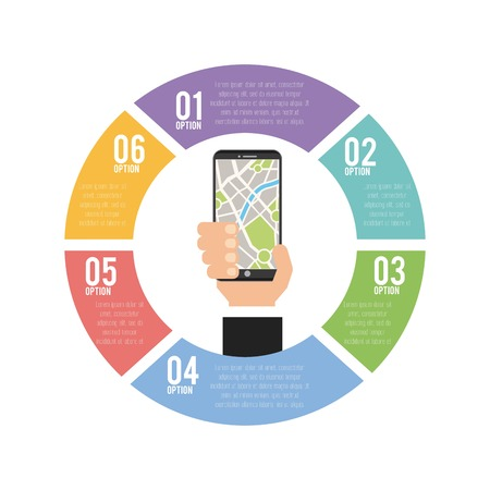 transport service infographic scheme vector illustration design Illustration
