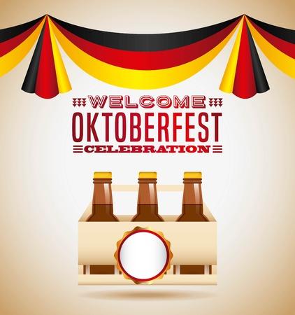 welcome oktoberfest beer festival vector illustration design Illustration