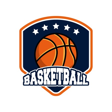 league: basketball league emblem classic vector illustration design