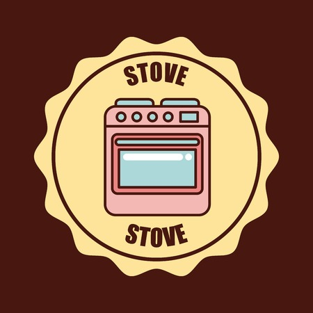 appliance: stamp with lace appliance vector illustration design