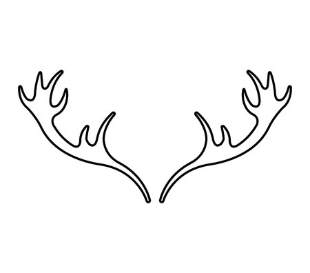 horns: horns reindeer isolated icon vector illustration design Illustration