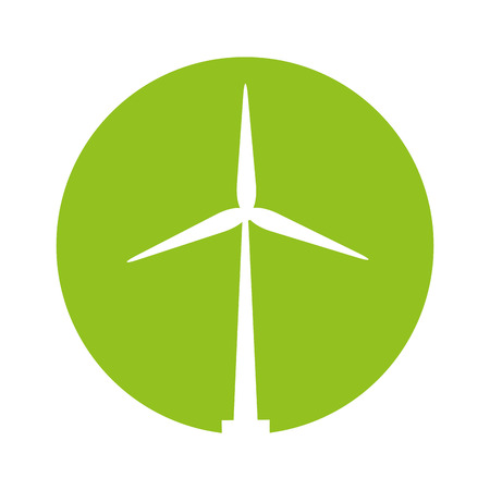 windmill ecology energy icon vector illustration design