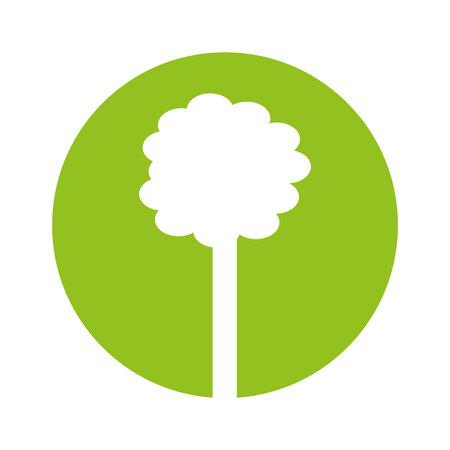 forest conservation: tree plant ecology symbol vector illustration design