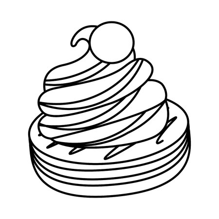 cookies and cream sweet icon vector illustration design