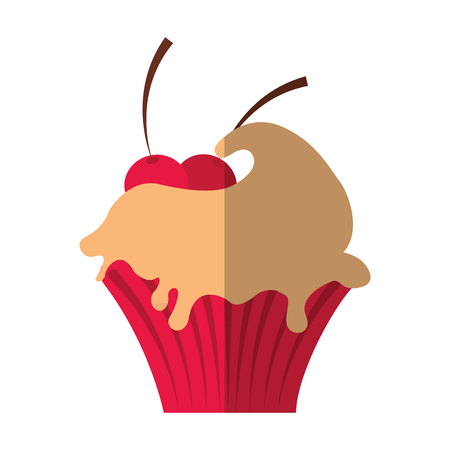 delicious cupcake sweet isolated icon vector illustration design Illustration