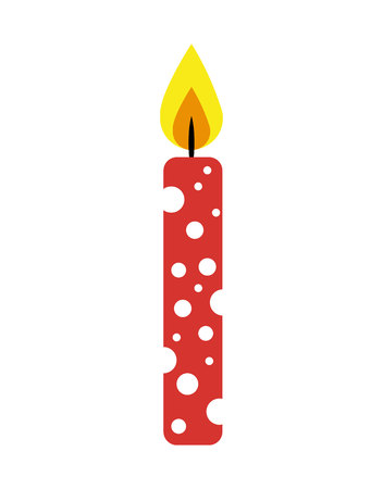 paraffin: candle flame birthday isolated icon vector illustration design