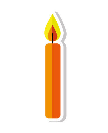 candle flame birthday isolated icon vector illustration design