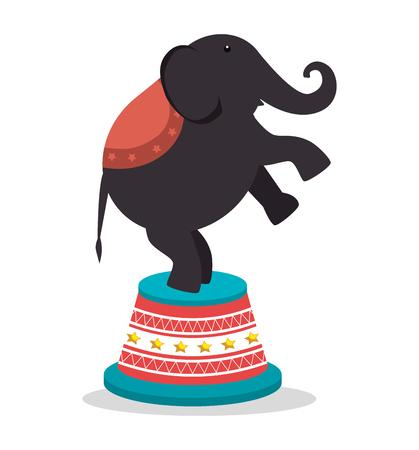 playfull: circus elephant festival show over white background. vector illustration