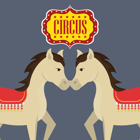 event party festive: horse circus festival show over gray background. colorful design. vector illustration Illustration