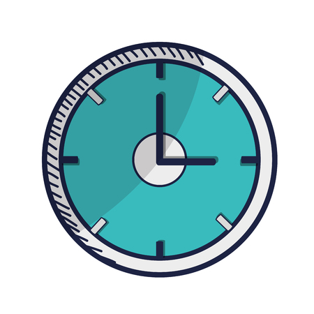time over: clock time device icon over white background. vector illustration