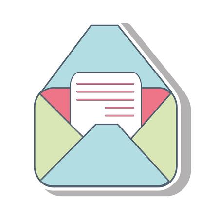 poststempel: Umschlag Mail-Symbol auf weißen Hintergrund. Vektor-Illustration Illustration
