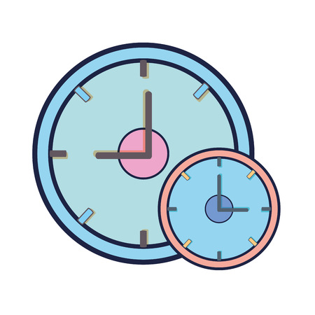 clock time device icon over white background. vector illustration