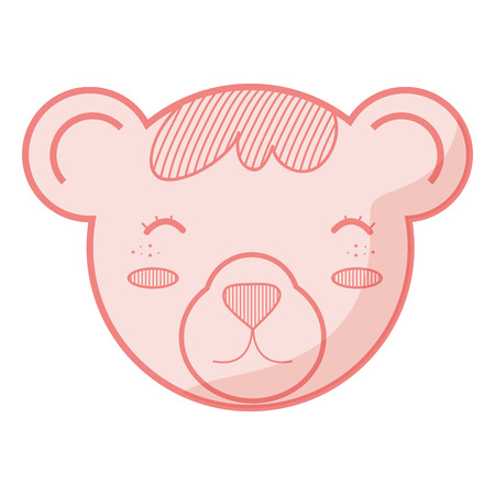 teddy bear toy over white background. vector illustration