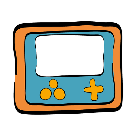 home entertainment: portable video game device over white background. vector illustration Illustration