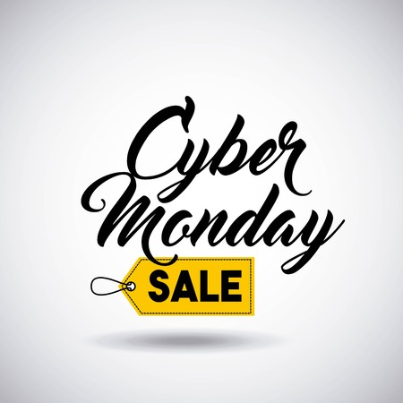 cyber monday sale commerce vector illustration design Illustration