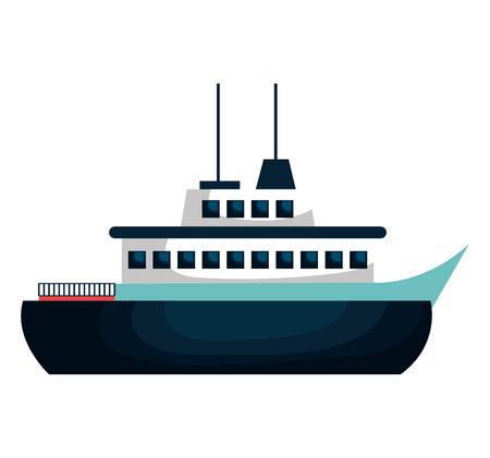 caribbean cruise: cruise ship isolated icon vector illustration design