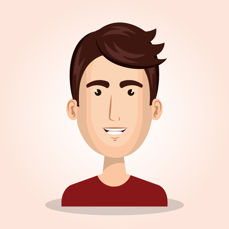 young man avatar isolated icon vector illustration design Illustration