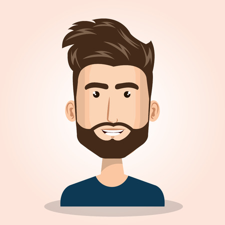 jonge man avatar geïsoleerde pictogram vectorillustratieontwerp Stock Illustratie