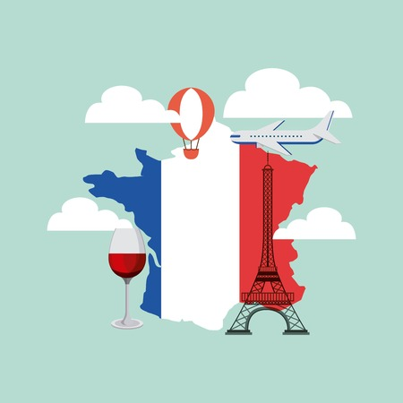french culture: french culture set icons vector illustration design