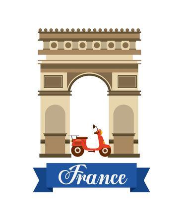 Arch of Triumph travel icons vector illustration design Illustration