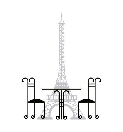 De Toren van Eiffel franse cultuur vectorillustratieontwerp Stock Illustratie