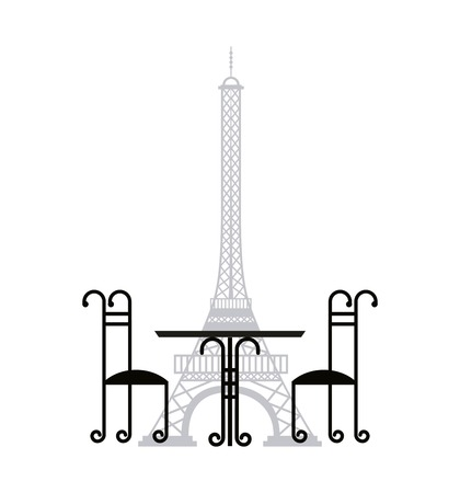 french culture: tower eiffel french culture vector illustration design Illustration