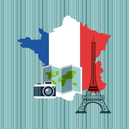 geography: france map geography icon vector illustration design