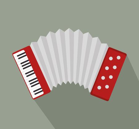 accordion: accordion music instrument design vector illustration Illustration