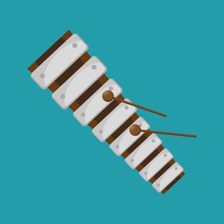 xylophone folk music instrument graphic vector illustration Illustration